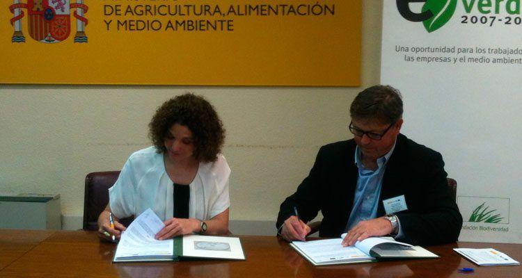 Signatura del Conveni Emplea Verde.