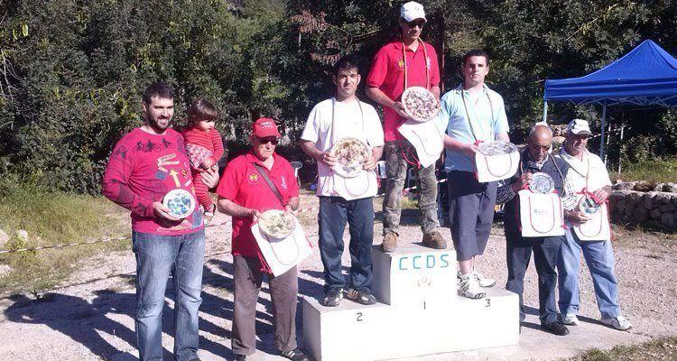 Campeones de la Octava tirada, puntuable para el campeonato de mallorca de tir de fona 2014 Modalitat Pedra.