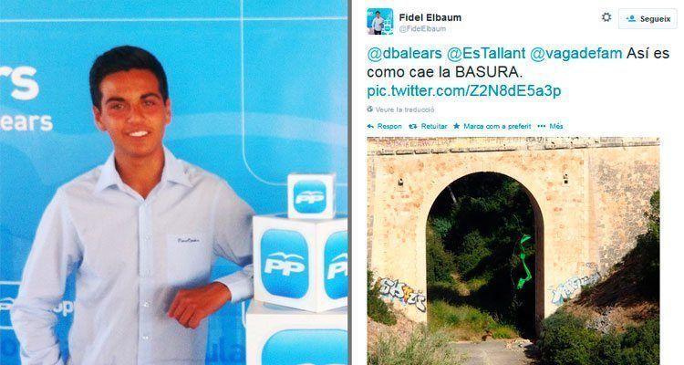 Publicación de Fidel Elbaum en su Twitter.