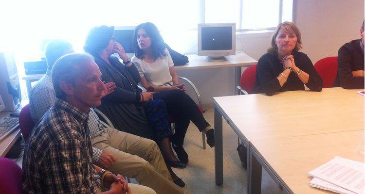 La eurodiputada Rosa Estaràs en la reunión con Feaps.