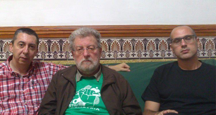 Visita dels professors de l'IES Joan Ramis a Jaume Sastre.