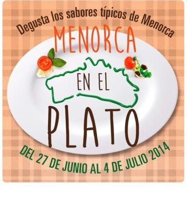 Cartel de Menorca en el Plato 2014.