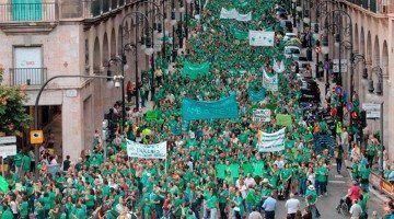 Manifestació de rebuig al TIL a Balears.