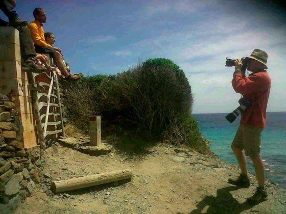 Fotógrafo alemán promocionando el turismo  natural en la isla de Menorca.