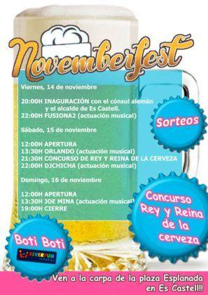 Cartel Novemberfest Es Castell