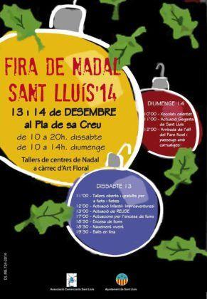Cartell Fira de Nadal 2014 Sant Lluís