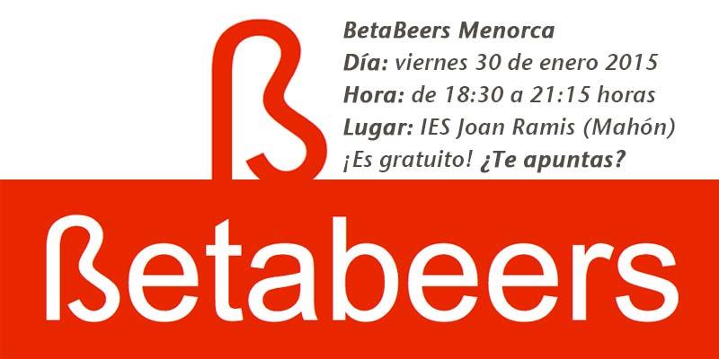BetaBeers viernes 30 enero IES Joan Ramis Mahón