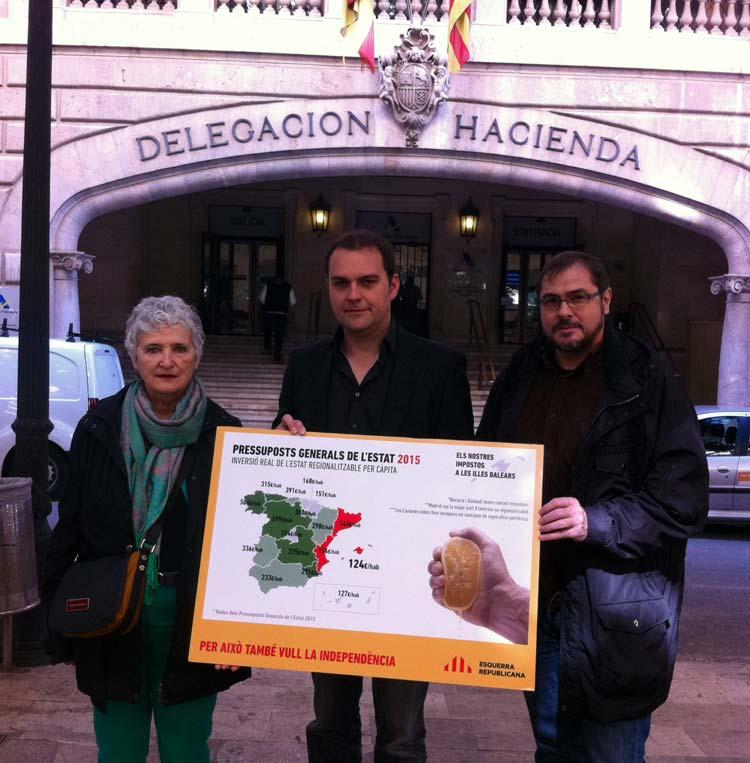 Esquerra Republicana en la delegacion de hacienda de Madrid