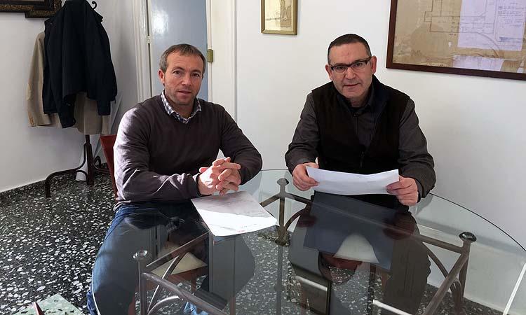 Lluís Camps con el Jefe de Policía Antonio Guijarro