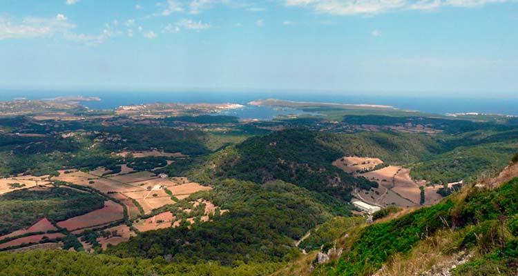 Costa Norte de Menorca visto desde Monte Toro