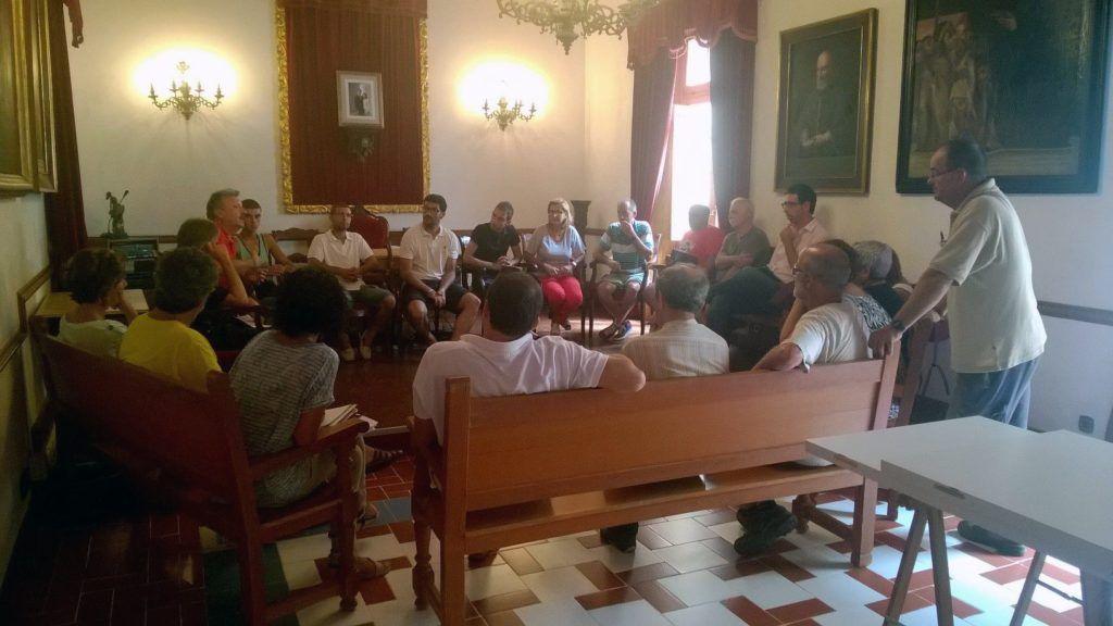 Imatge reunió organitzadors festes Sant Llorenç