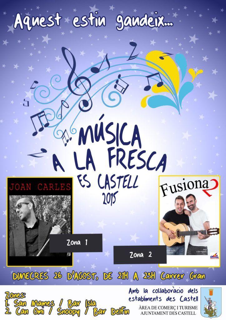 Música a la Fresca 26 agosto 2015