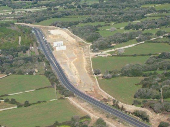Obras tramo Maó-Alaior carretera Me1