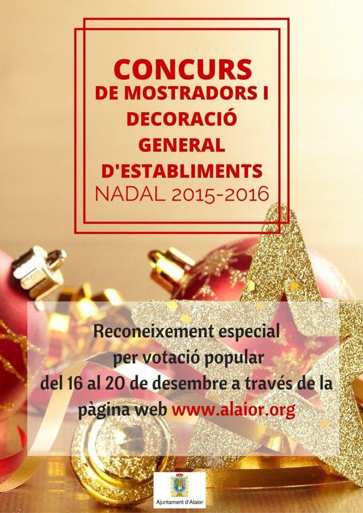 Cartel votación popular decoración navideña