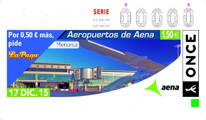 Cupon ONCE Aeropuerto Menorca