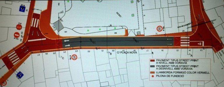 Mapa de las obras calle Plaça Nova Alaior