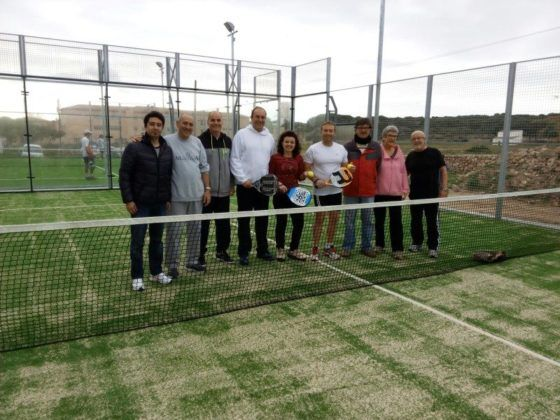 Inauguración pistas de pádel Es Castell
