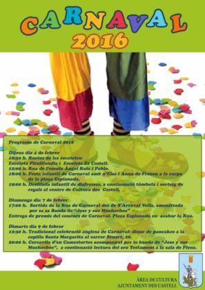 Programa Carnaval 2016 Es Castell