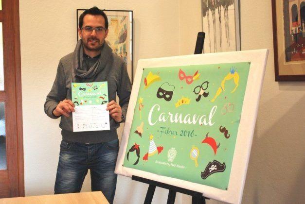 Regidor de Cultura Ajuntament Maó Hector Pons amb el programa de Carnaval
