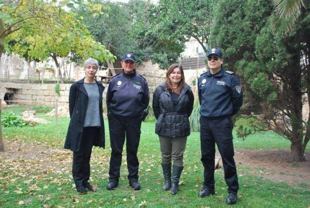 Conxa Juanola a l'acte de presentació de la Policia de Medi Ambient
