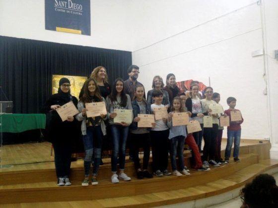 Entrega de premios del concurso del año pasado