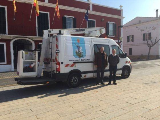 Nuevo vehículo brigada obras Ayuntamiento Es Castell