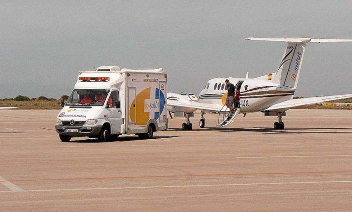 Avión ambulancia en Menorca