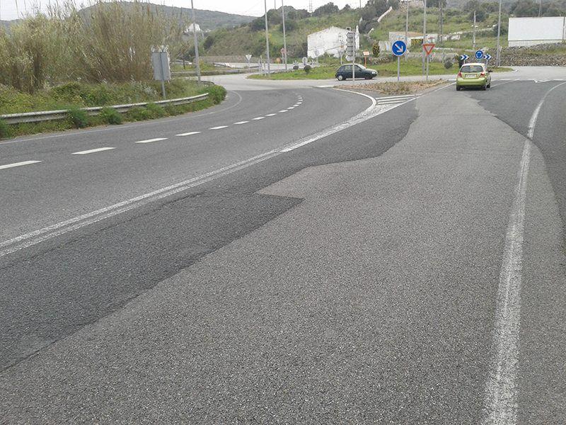 Carretera baixada al port per la Ronda de Maó