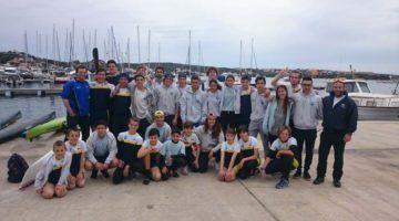 Unos 80 deportistas en las regatas del Día del Club