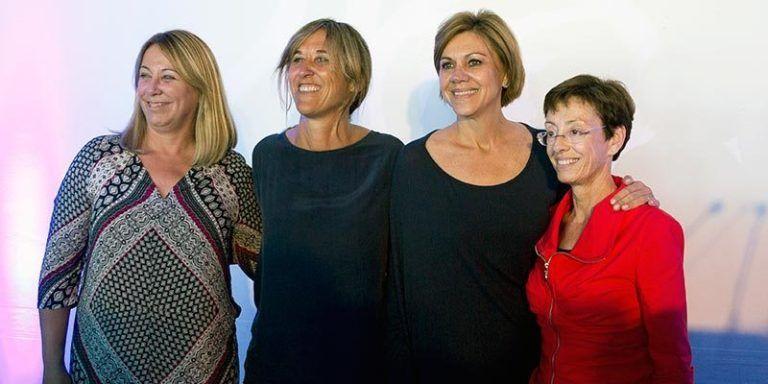Águeda Reynés, Teresa Palmer, Maria Dolores de Cospedal y Juana Francis Pons Vila, del Partido Popular