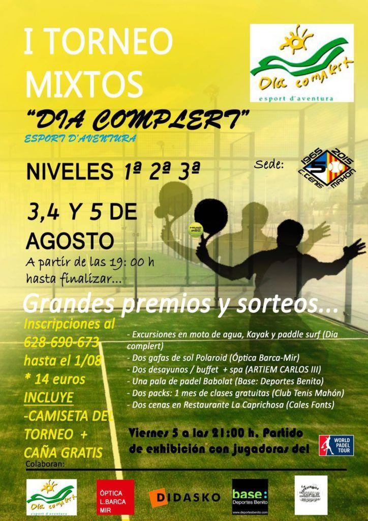 Cartel I Torneo Mixtos Dia Complert