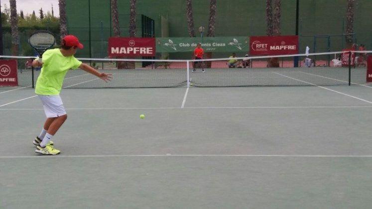 Iván López en el Campeonato de España alevín