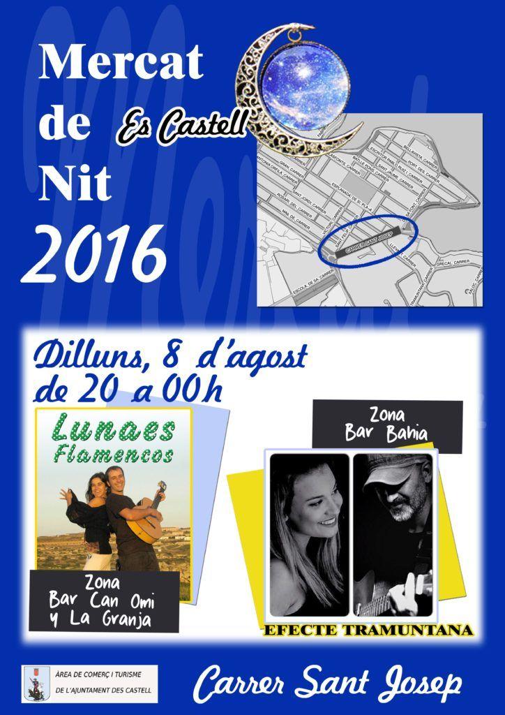 Cartel Mercat de Nit Es Castell (08 agosto)