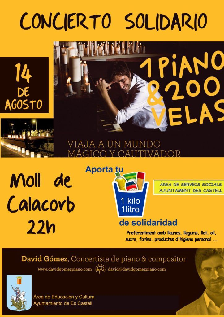Cartel concierto 1 piano & 200 velas 2016