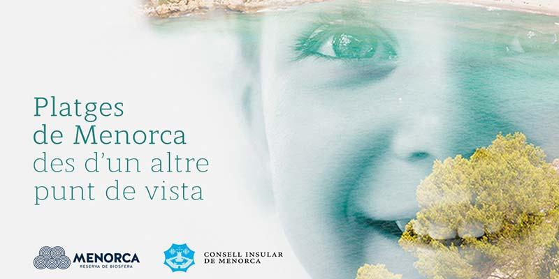 """Cartell de l'exposició itinerant """"Platges de Menorca, des d'un altre punt de vista"""""""