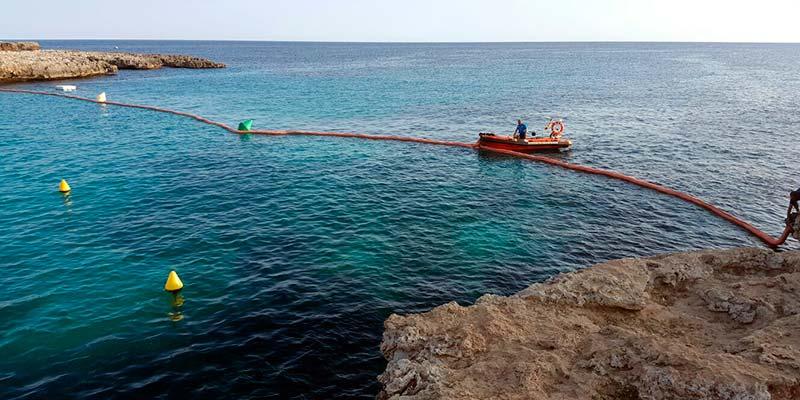 Fugas en el cable submarino en Cala en Bosc