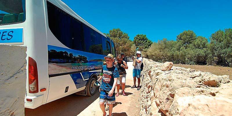 Autobús lanzadera a las playas