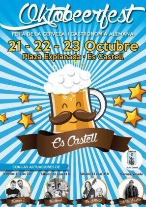 Cartel Oktoberfest Es Castell 2016