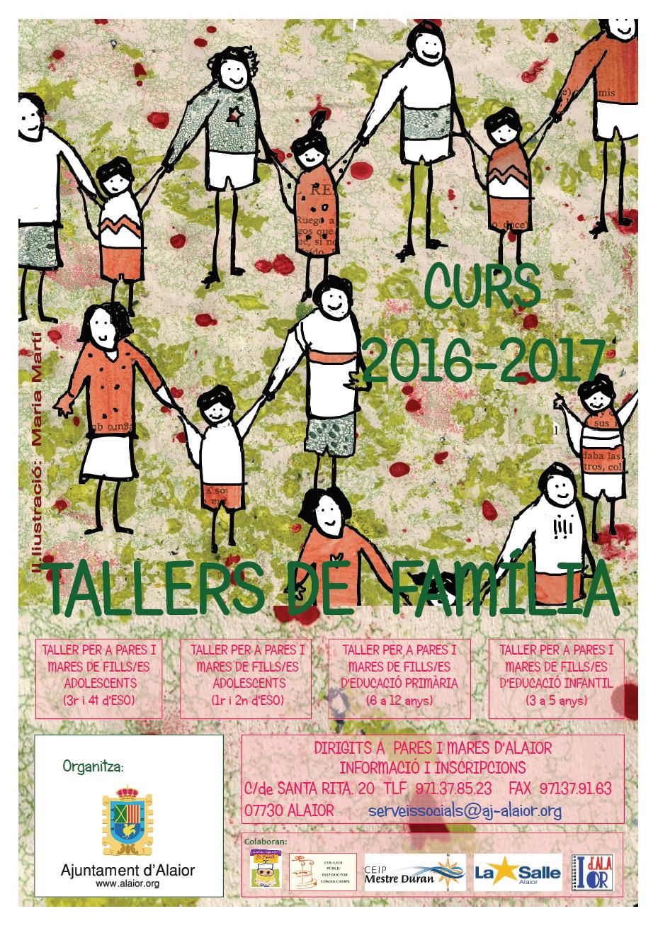 Cartell Tallers de Familia2016 - 2017