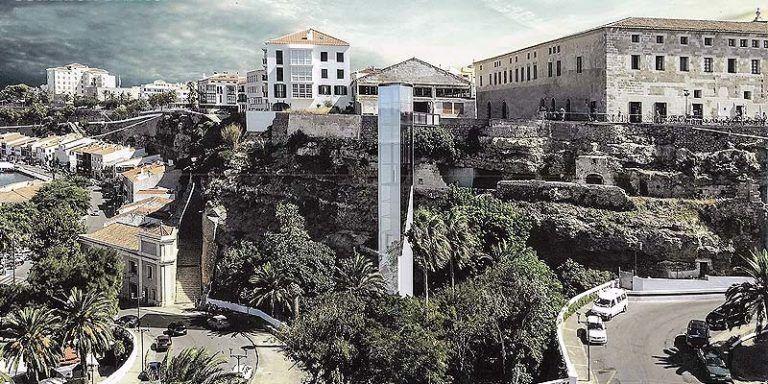 Proyecto nuevo ascensor Puerto de Mahón