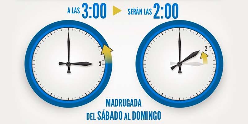 Cambio horario de tres a dos