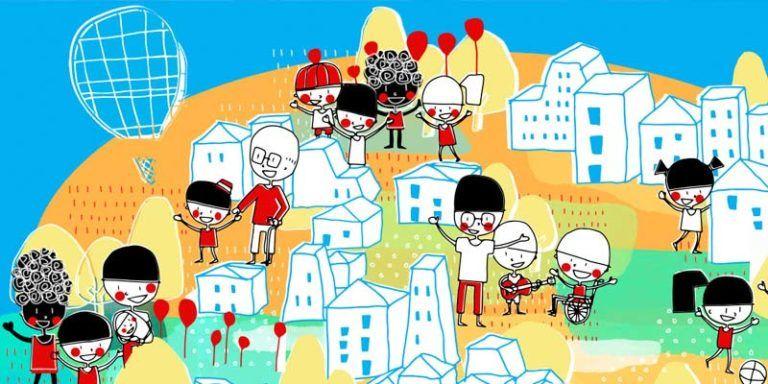 Ilustración Ciudad Amiga de la Infancia