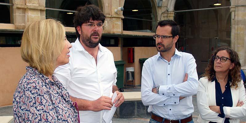 María Villalonga, Vicenç Tur, Héctor Pons y María Membrive en el Claustre del Carme