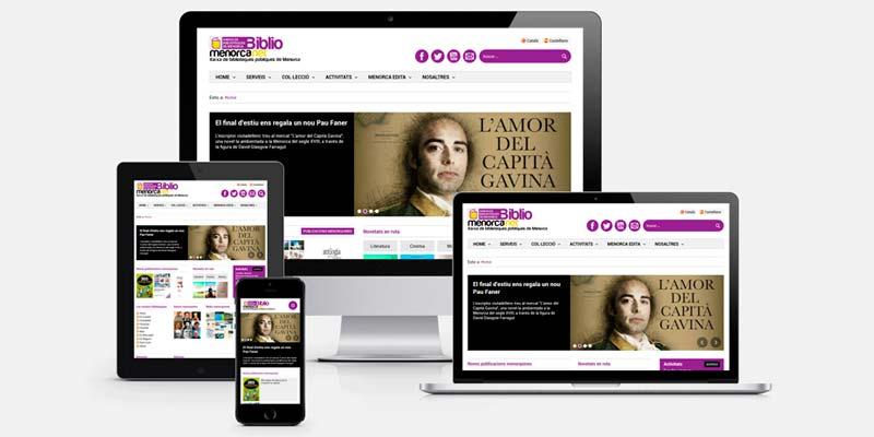 Nova web Xarxa de Biblioteques de Menorca