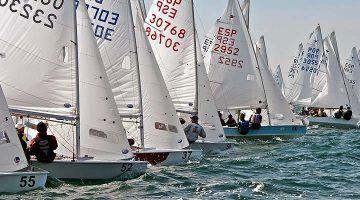 61 barcos en el Campeonato de España de Snipe
