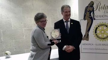 Seis mil euros de Rotary Club Mahón-Mô para ASPANOB