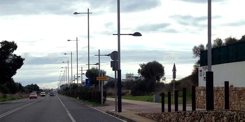 Iluminación carretera Mahón - Sant Lluís