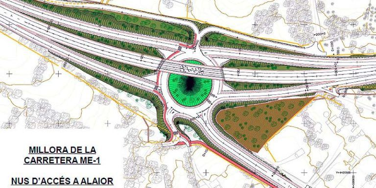 Plano mejoras acceso Alaior ME-1