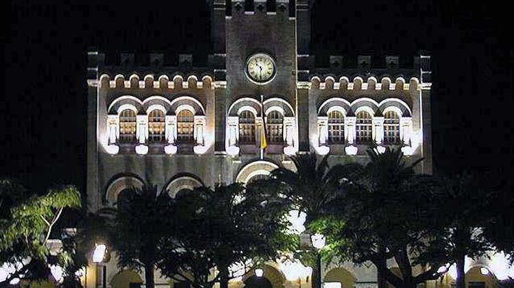 Ayuntamiento de Ciutadella de Menorca de Noche