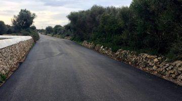El Camí de Son Saura de Ciutadella estrena paviment